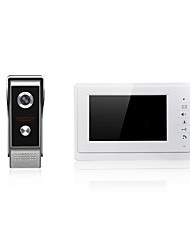 7 pouces grand téléphone porte vidéo d'écran de une à une sonnette de porte pour le système d'entrée de porte interphone