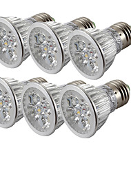 YouOKLight 6PCS E26/E27 4W 360LM AC85-265V 4-LEDs Cold White 6000K Dimmable Spotlight Bulb Lamp