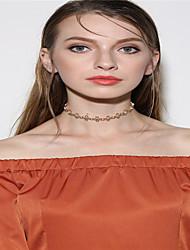 Women's Choker Necklaces Rhinestone Single Strand Flower Rhinestone Basic Flower Style Rhinestone Euramerican Fashion Personalized Jewelry