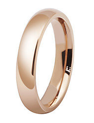 Promotion Wholesale Titanium Steel Rose Gold Plated Anti-allergy Smooth Couple Wedding Ring Woman Man Fashion Jewelry