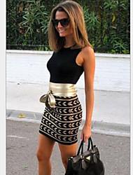 Moulante Robe Femme Soirée Sexy,Couleur Pleine Col Arrondi Mini Sans Manches Coton Printemps Eté Taille Normale Micro-élastique Moyen