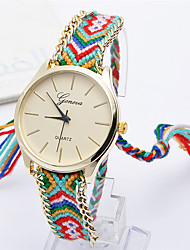 Women's Fashion Watch Quartz Fabric Band Casual Multi-Colored