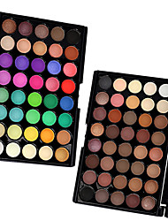2PCS in 1 Pack Mixed 40 Colors Pro Eye Shadow Eyeshadow Palette Dry Matte&Glitter Smoky&Colorful Powder Daily Party Makeup Cosmetic Palette Set
