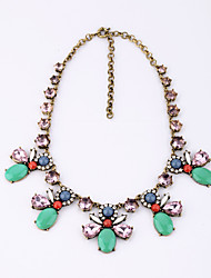 Women's Strands Necklaces Flower Chrome Fashion Euramerican Jewelry For Wedding Congratulations
