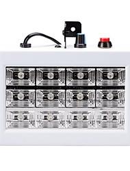 U'king 15w Mini-Auto-Sound aktiviert 12 weiße LEDs Bühnenbeleuchtung Ausrüstung führte Raum Strobe für Disco DJ Party Musik Show