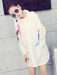 Sun protection clothing female summer 2017 new ultra-thin long-sleeved jacket and long sections printing UV sunscreen summer clothes tide