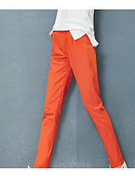 2017 Spring Sign spot cotton pants female new thin leisure feet loose tight waist harem women