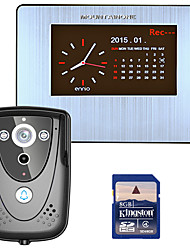 MOUNTAINONE  7 DVR Color Touch Screen Video Door Phone with PIR Record intercom System with IR camera 8G SD card