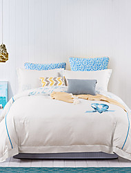 turqua BEATING HEARTS Micro Fab Cotton Embroidered Classic Bedding Set Duvet Cover Comforter Case Pillowcase Flat Fheet