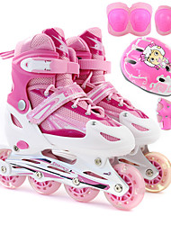 Kid's Inline Skates Blue/White/Blushing Pink