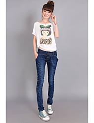 vêtements décontractés beau vieux pantalon denim était mince rétro mince jean pieds pantalon crayon