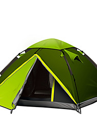 3-4 persons Tent Double One Room Camping Tent Portable-Camping Outdoor-Green Blue