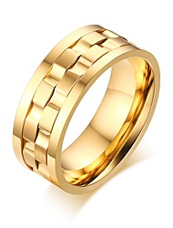 Fashion Gold Plated Spike Rings for Women/Men Jewelry Punk Rotatable Wedding&Engagement Rings R-183
