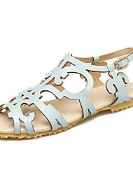 Для женщин Сандалии Светодиодные подошвы Удобная обувь Туфли Мери-Джейн Дерматин Весна Лето Для праздникаУдобная обувь Туфли Мери-Джейн
