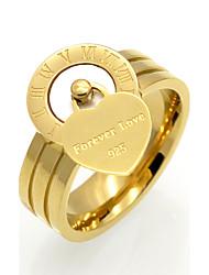 Anéis Grossos ônix Original Coração Geométrico Dupla camada Moda Vintage Personalizado Rock Euramerican Ágata Aço TitânioFormato de