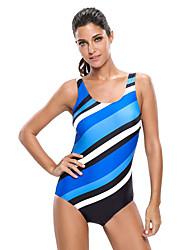 Women's Oblique Stripes One Piece Swimsuit
