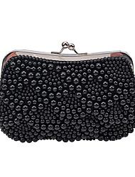 L.WEST Women's Luxury High-grade Imitation Pearl Evening Bag