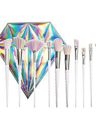 10Conjuntos de pincel Pincel para Blush Pincel para Sombra Pincel para Corretivo Escova Ventoinha Pincel para Pó Outro Pincel pincel para
