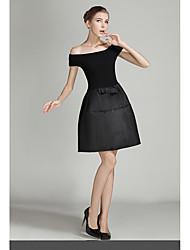 Ebay aliexpress europeus e americanos moda palavra ombro vestido de mangas curtas