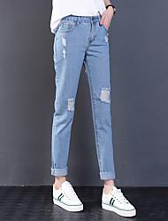 Signe place 2017 printemps nouvelles femmes coréennes pantalons en vrac pieds trous jeans ho5224 yuans