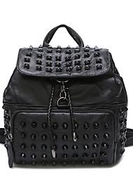 Черный рюкзак в стиле панк-рюкзак с заклепками
