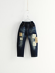 Unisex Casual/Daily Solid Jeans Spring Fall