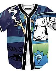 T-shirt Da uomo Casual VintageAlfabetico A V Nylon Manica corta