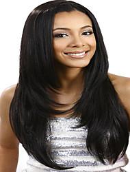 Menschenhaar 100% Seide Basis Spitzefrontseitenperücke der brasilianische reiner Haares geschichtete gerade Perücke für Frauen