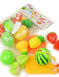 Conjuntos Toy Cozinha Toy Foods Circular Vegetais Plástico Crianças 5 a 7 Anos 8 a 13 Anos