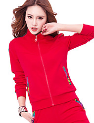 Women's Long Sleeve Running Clothing Sets/Suits Breathable Spring Summer Fall/Autumn Sports WearExercise & Fitness Leisure Sports