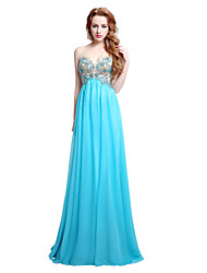 Sheath / Column Sweetheart Floor Length Chiffon Formal Evening Dress