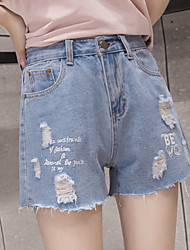 2017 spring and summer women new Korean loose waist jeans shorts shorts wild child student