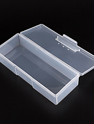1PCS Clear Plastic Nail Art Tip Storage Box Case Tool(Random color