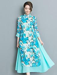 O estilo chinês retro do vento nacional 2017 novo do verão melhorou o vestido do cheongsam diário