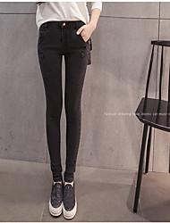 assinar calça jeans pés lápis calças versão coreana do trecho simples slim parágrafo maré selvagem Outono