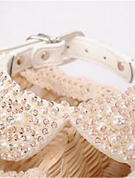 Cachorro Colares Roupas para Cães Fashion Cristal/ Strass Branco