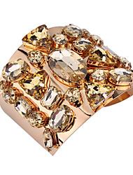 Femme Manchettes Bracelets Bijoux Vintage Style Punk Mode Gemme Alliage Forme Géométrique Bijoux Pour Occasion spéciale