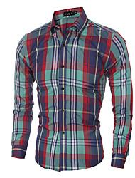 Men's Fashion Casual Classic Plaid Long-Sleeved Shirt