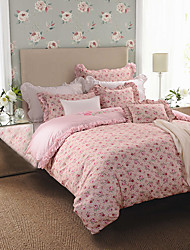 rosas turqua luz 100% algodão 4pcs conjunto clássico de cama conjunto de tampa incluindo edredão caso cachecol folha plana fronha