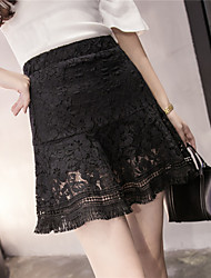 Sign spring and summer fashion lace skirt package hip skirt anti emptied skirts flounced skirt a word umbrella skirt