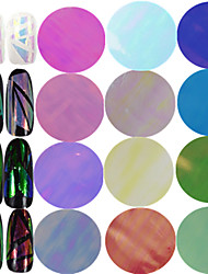 1pcs 100*4cm New Fashion Nail Art Transfer Foils Sticker Colorful Design Transparent Sweet Glass Decals Nail DIY Foils Nail Beauty Decoration BL01-18