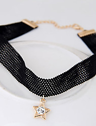 Choker Necklaces Alloy Lace Euramerican Fashion Vintage Star Jewelry Women's Daily 1pc