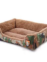 Cat Dog Bed Pet Bed Camouflage Color Soft Fabric
