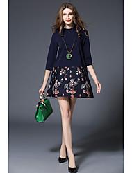 Spot real tiro -2017 novos modelos de moda primavera grande jardas manga curta uma linha de saia foi fino de apoio