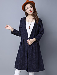 Sign Spring 2017 new wave of female dress coat longer section collar coat was thin long-sleeved cotton cardigan