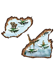 Wall Stickers Wall Decals Style Floating Island PVC Wall Stickers