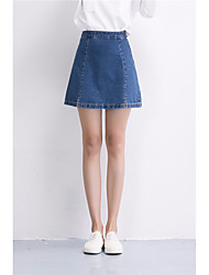 Women's High Rise Going out Mini Skirts A Line Solid Spring Summer
