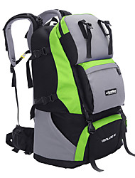 60 L Backpack Rucksack Multifunctional Yellow Green Red Black Blue Dark Blue Light Blue Purple Orange Others
