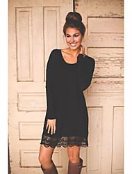 Femme simple Taille Normale Décontracté / Quotidien Vacances Midi Jupes,Crochet Tulle Couleur Pleine Sangle Eté