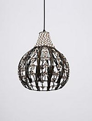 Retro pastoral Cafe Lighting Handmade Rattan Rope Chandelier Personality